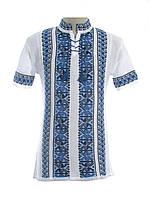 Мужская вязаная рубашка 20284 (короткий рукав) (х/б)