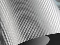 Пленка Карбон 3D серая с микроканалами. ширина  рулона 1,52 м.