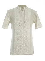 Мужская вязаная рубашка 20287 (короткий рукав)