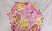Недорогой детский зонтик для девочки на карбоновых спицах № К4-3
