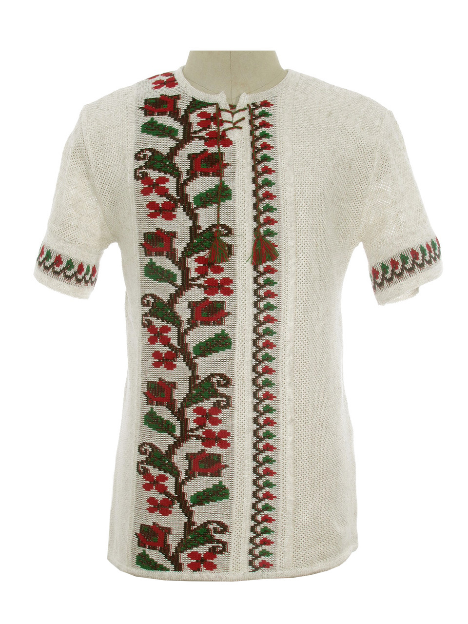 Мужская вязаная рубашка 20289 (короткий рукав)