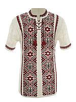 Мужская вязаная рубашка 20290 (короткий рукав)