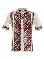 Мужская вязаная рубашка 20292 (короткий рукав)