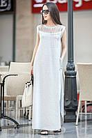 Женский летний длинный сарафан с карманами Diana
