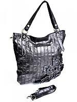 Женская сумка из кожи черная GW-996