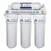 Система 4-х ступенчатой очистки Bio+ systems SL404-NEW (очистка + умягчение) c краником на мойку