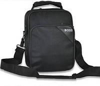 Стильная мужская тканевая сумка Boss с ручкой