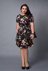 Красивое трикотажное женское летнее платье р.48-56, фото 2