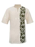 Мужская вязаная рубашка 20298 (короткий рукав)