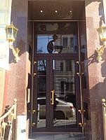 """Алюминиевые двери """"тёплые"""" (двустворчатые), фото 1"""