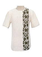 Мужская вязаная рубашка 20299 (короткий рукав)