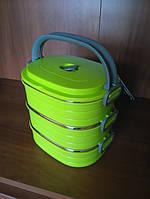 Термос ланч-бокс Peterhof PH-12426-27 green 2,7л