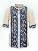 Мужская вязаная рубашка 20302 (короткий рукав)