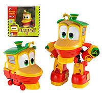 Оригинал!Поезд трансформер Нуби спасатель - DUCK Robot trains -Паровозик облачко/ Роботы поезда.