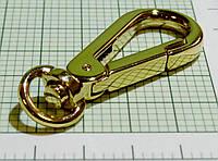 Карабин (Италия) (капля) металл (отполированный, золото)