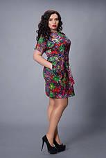 Красивое трикотажное женское летнее платье р.48-56, фото 3
