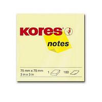Бумага для заметок с клейким слоем (75х75), 100л, НЕОН, цвета в ассортименте, K47076