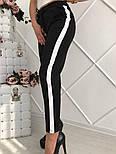 Женские красивые брюки со вставкой (2 цвета), фото 4
