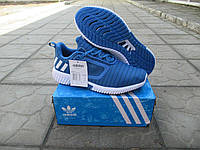 Мужские Кроссовки Adidas Climacool  + коробка сетка синие