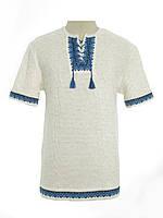 Мужская вязаная рубашка 20315 (короткий рукав)