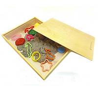 Песочница деревянная с крышкой для  игры скинетическим песком, фото 1