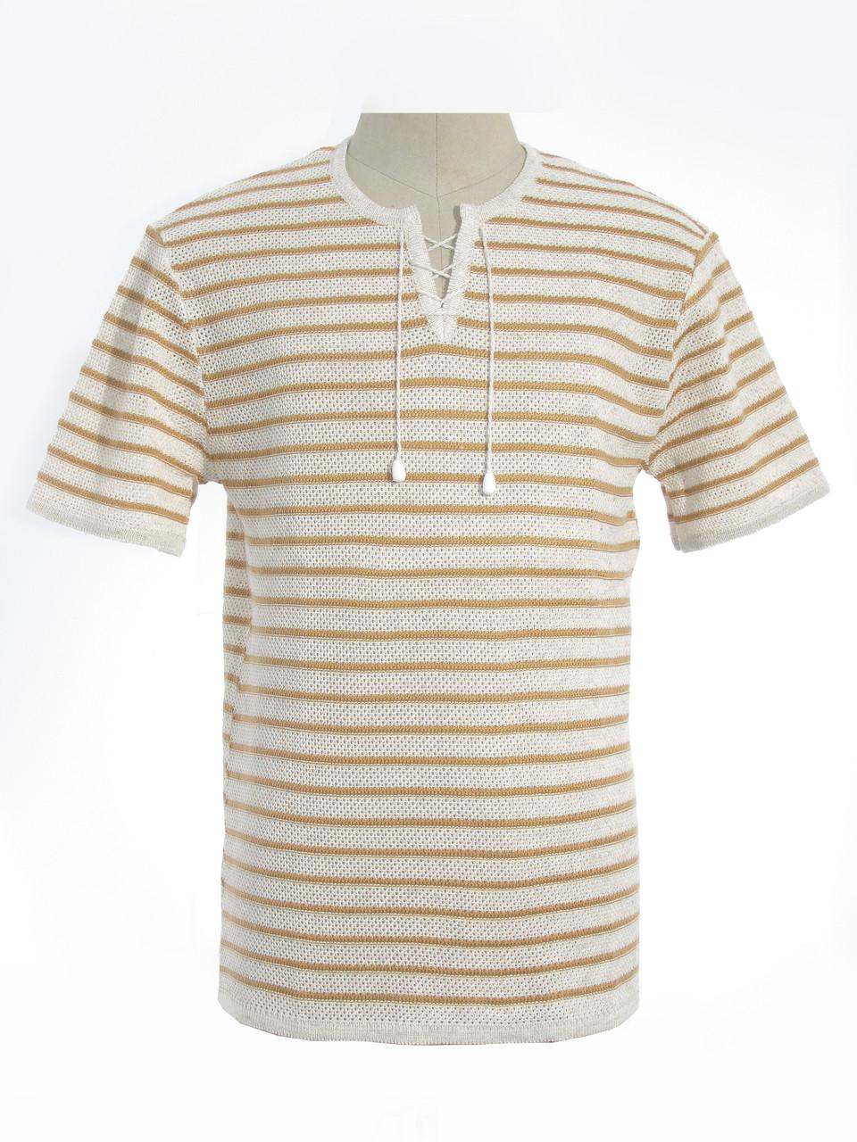Мужская вязаная футболка 20305