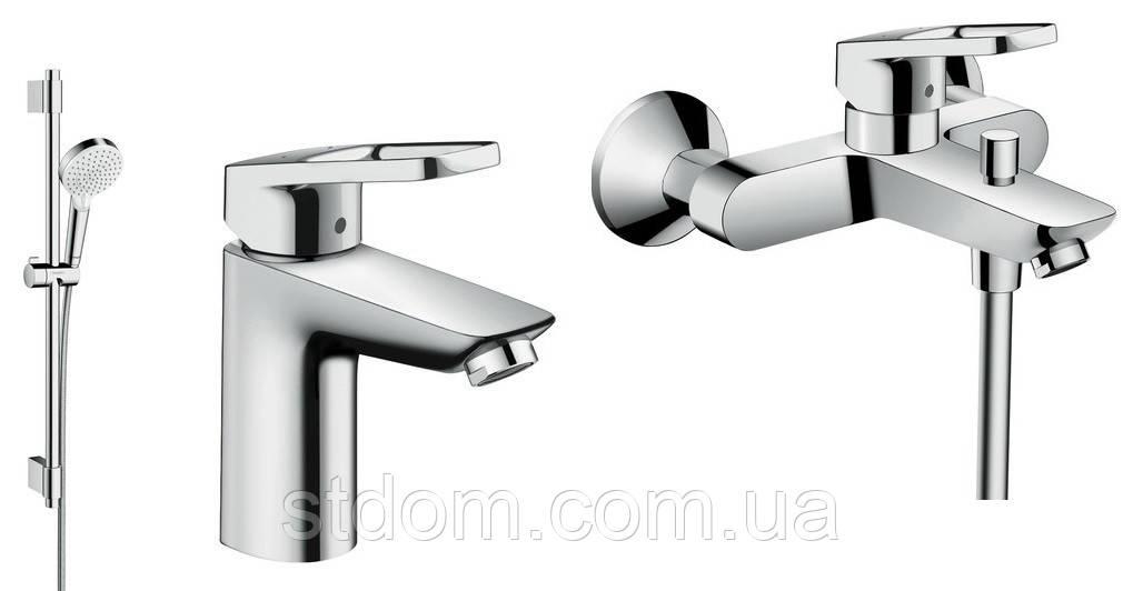 Набор смесителей для ванной Hansgrohe Logis Loop 100 хром 1062017