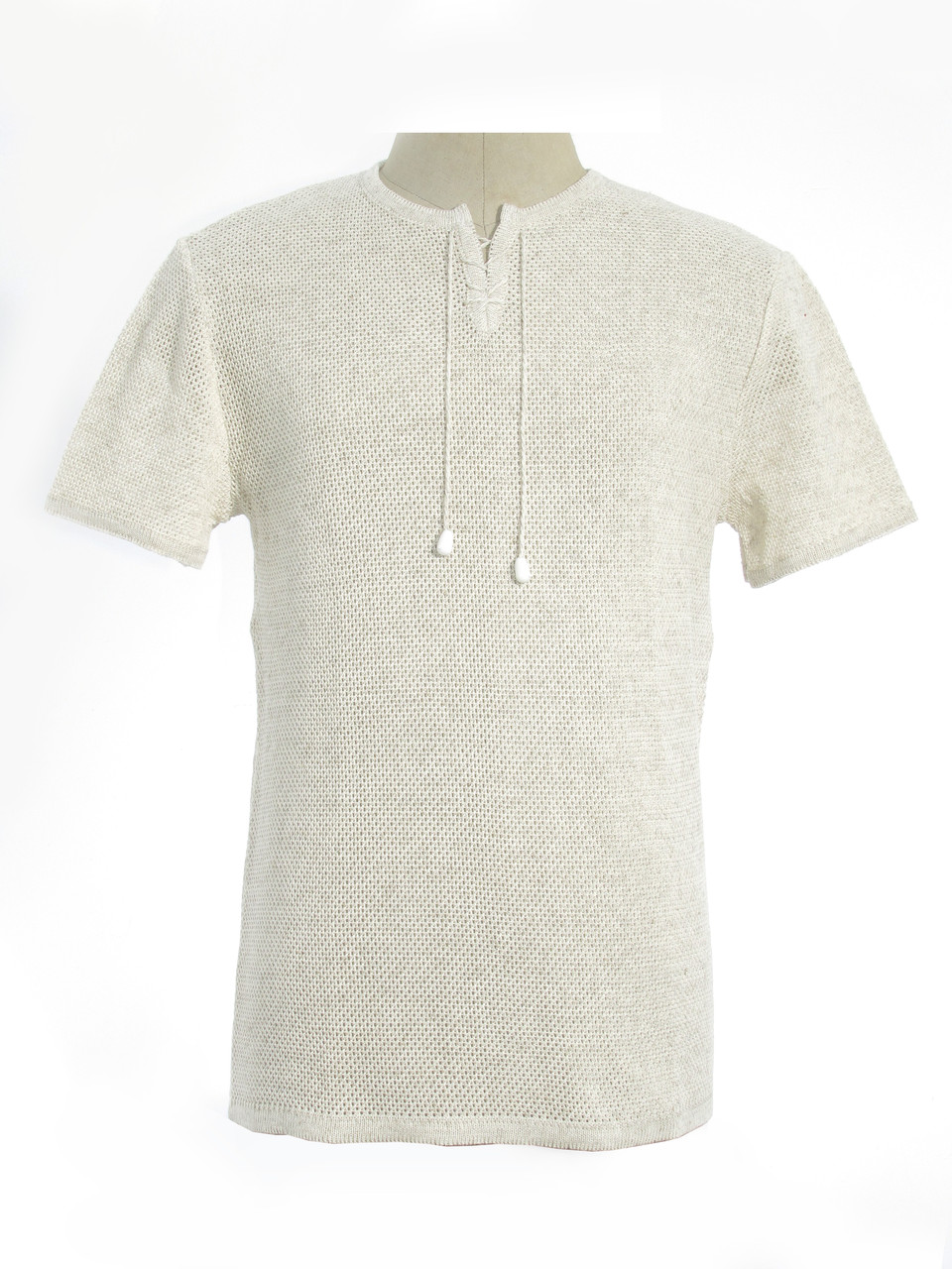 Мужская вязаная футболка 20307