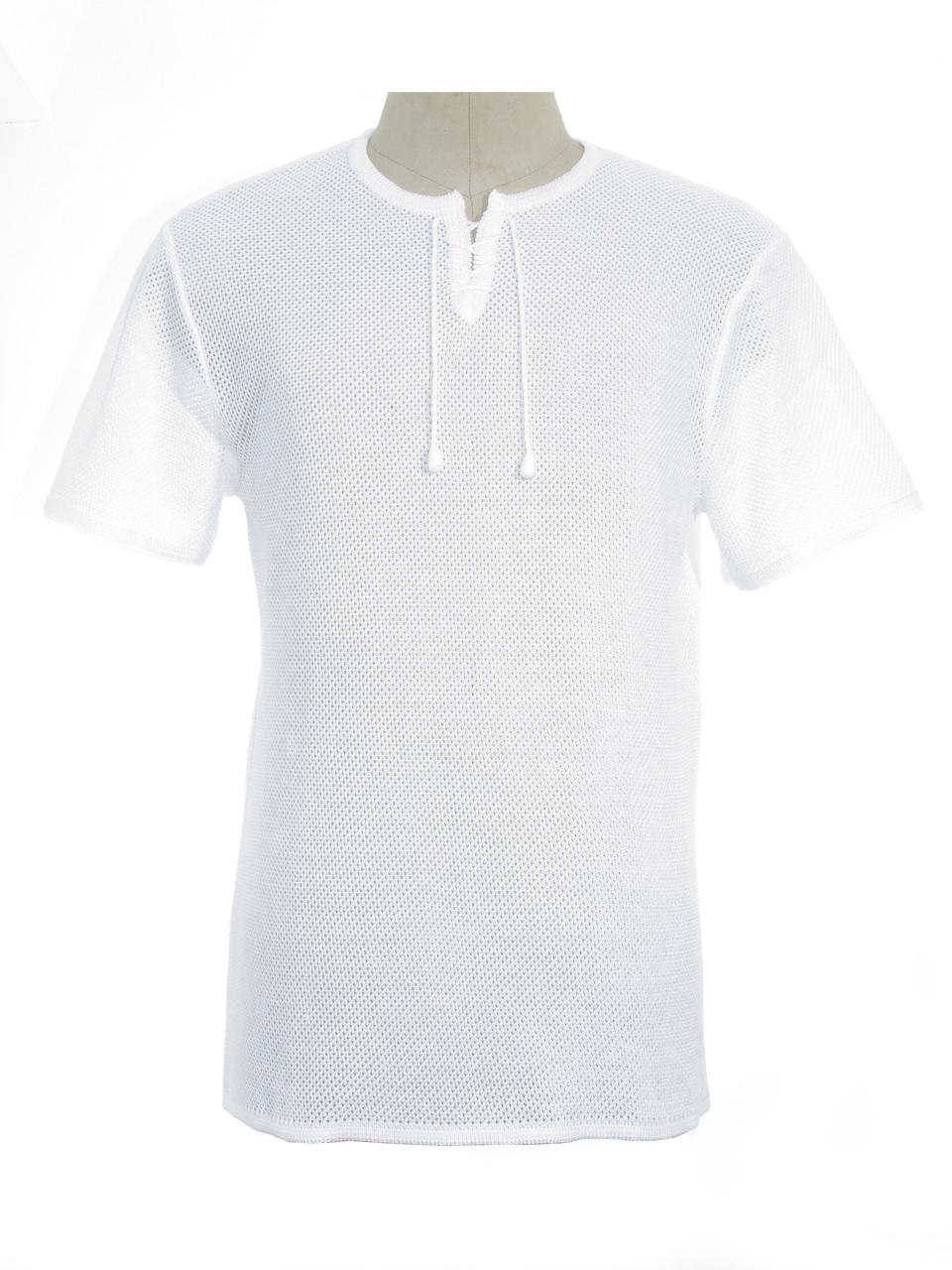 Мужская вязаная футболка 20310 (х/б)