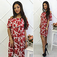 Платье на плечи с воланом 32- 1075, фото 1