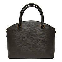 Женская  сумка из натуральной кожи фабричная (отшита  в Италии) коричневого цвета