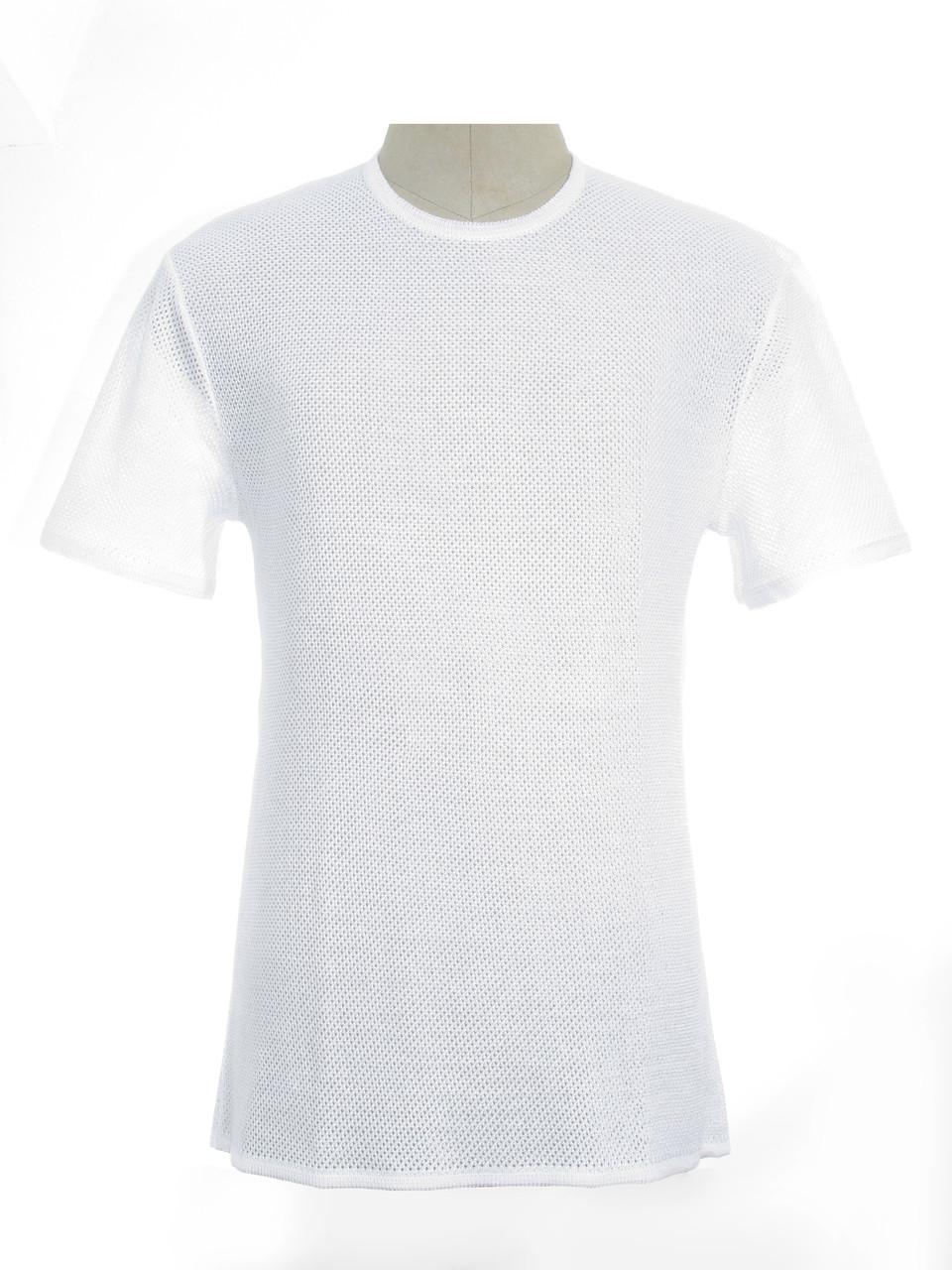Мужская вязаная футболка 20311 (х/б)