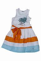 Нарядная юбка, полосатая с оранжевым поясом(с фатином), итальянский бренд Alice Pi.