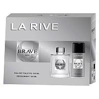 La Rive Brave Man Подарочный набор для мужчин (Туалетная вода 100мл / Дезодорант 150мл)