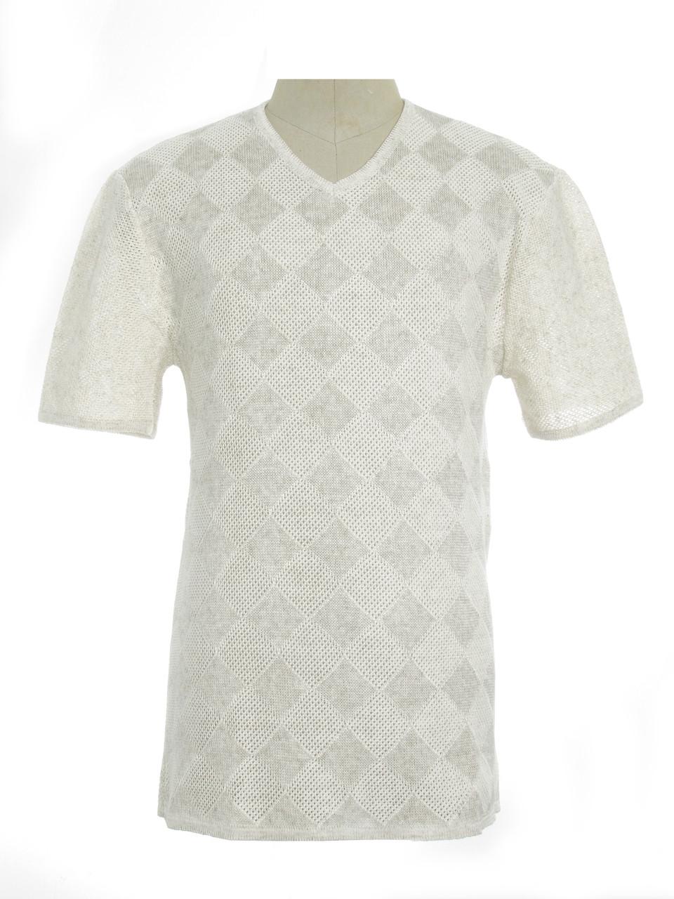 Мужская вязаная футболка 20313