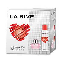 La Rive Love City Подарочный набор для женщин (Парфюмированная вода 90мл / Дезодорант 150мл)