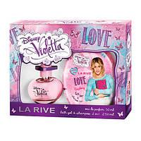 La Rive Violetta Love For Girl Подарочный набор для женщин (Парфюмированная вода 50мл / Гель для душа 2в1)