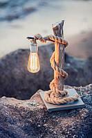 Настольные лампы деревянные ручной работы