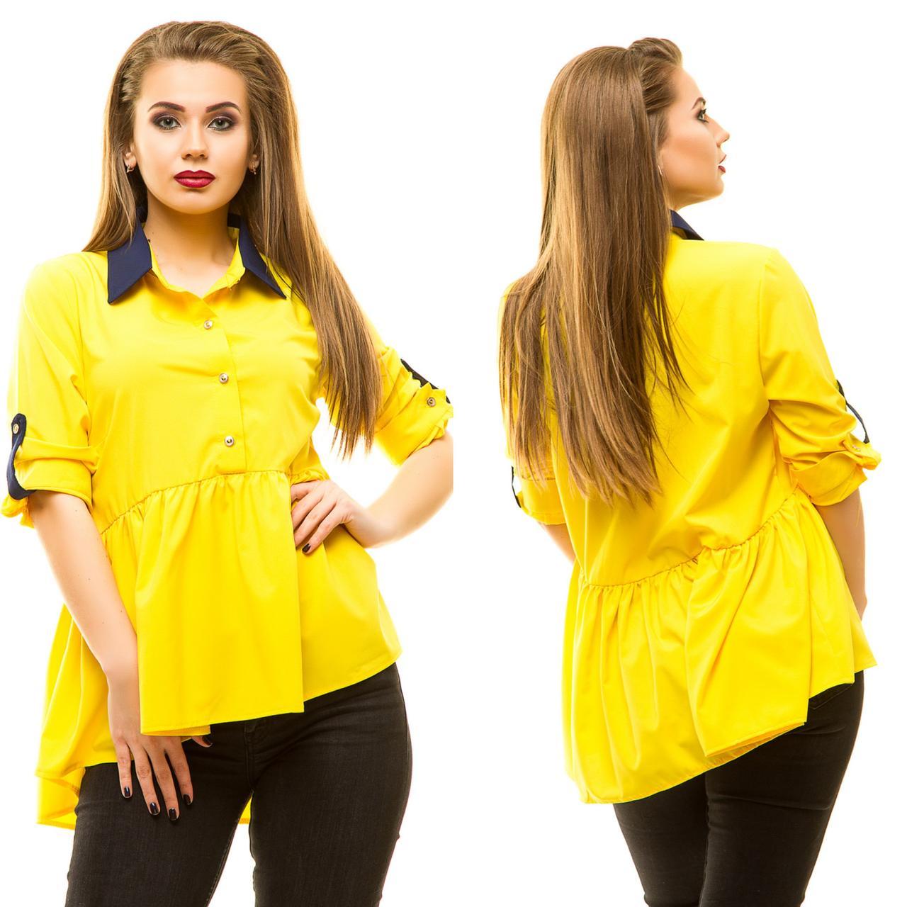 Блузка с баской