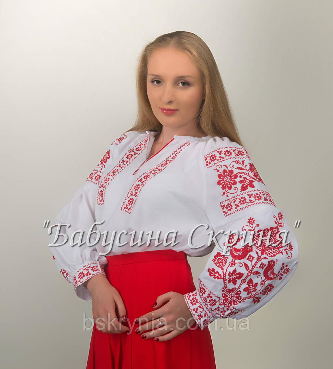 Заготовка жіночої сорочки для вишивки нитками бісером БС-107 - Інтернет  магазин