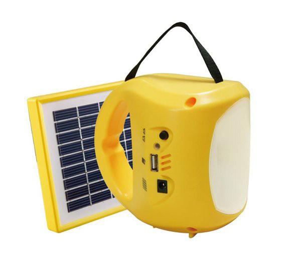 Ручной фонарь с солнечной батареей Solar Lantern GC-501B + зарядка для телефона