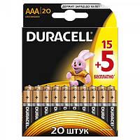 Батарейки Duracell - Basic ААА LR03 1.5V 20/200шт