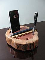 Подставки под телефоны из натурального дерева