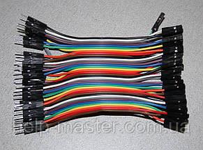 Плоский кабель 10 см. (штекер гнездо) pin40  2.54