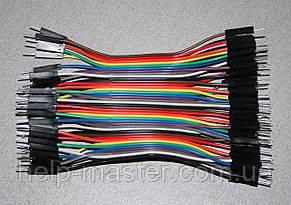 Плоский кабель 10 см. (штекер штекер) pin40  2.54