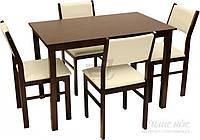 Комплект Лацио Стол обеденный со стульями 4 шт. венге/слоновая кость