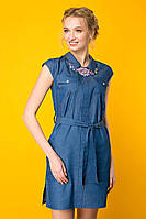Платье джинсовое с колье Донна(синее)