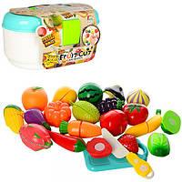 Набор 6011 игрушечных продуктов на липучке в чемодане,20 предметов Feng Lin