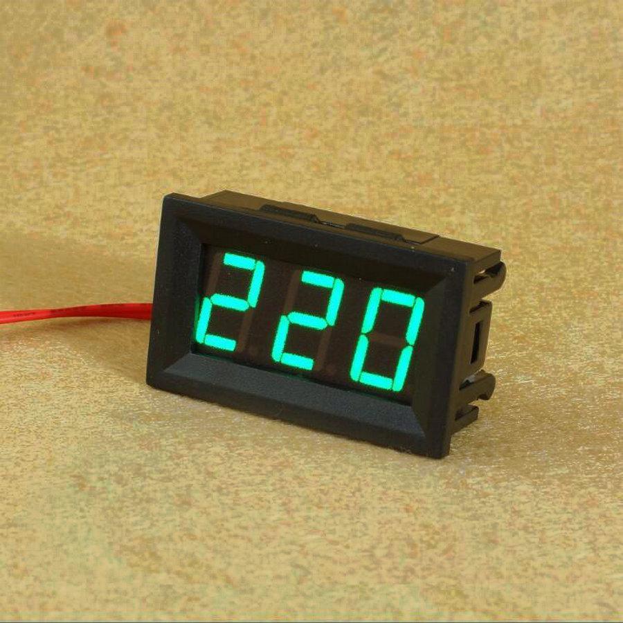 Цифровой Вольтметр 220В переменного тока AC 60-500V зеленый