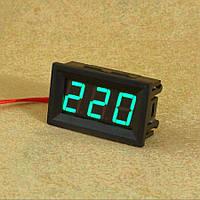 Цифровой Вольтметр 220В переменного тока AC 60-500V зеленый, фото 1